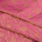 Purple and Golden Silk Brocade Fabric-8620