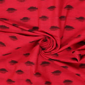 Red Black Ikat Cotton Fabric-12204