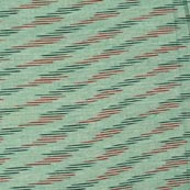 Red-Black and Mint Green Unique Ikat Cotton Fabric-4244