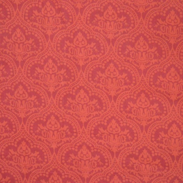 Red Color Ajrakh Print Indian Cotton Fabric