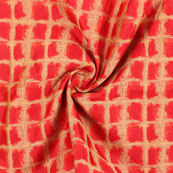 Red Golden Jacquard Cotton Fabric-9011