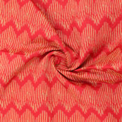 Red Golden Jacquard Cotton Fabric-9022
