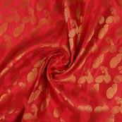 Red Golden Music Instrument Brocade Silk Fabric-9347