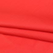 Red Plain Cotton Silk Fabric-16446