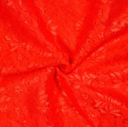 Red Red Floral Net Flower Fabric-19098