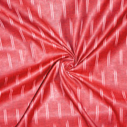 Red White Ikat Cotton Fabric-11174