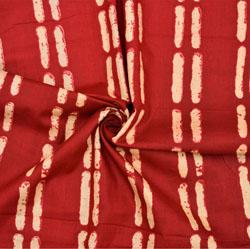 Red White Stripe Cotton Fabric-28620