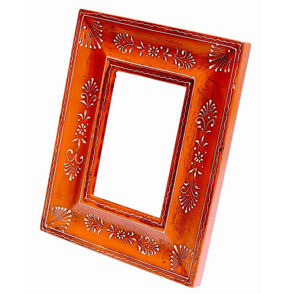 Red White Wood Photo Frame