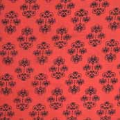 Red and Black Hand Block Print Indian Cotton Fabric