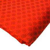 Red and Black Small Flower Pattern Brocade Silk Fabric-8230
