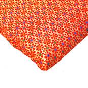 Red and Golden Flower Design Brocade Silk Fabric -8176