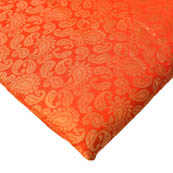 Red and Golden Paisley Design Brocade Silk Fabric-8220