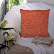 Red and Golden Silk Cushion Cover-35048