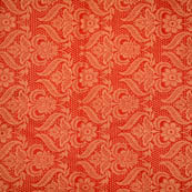 Red and Golden flower shape brocade silk fabric-4975