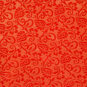 Red and Golden flower silk brocade fabric-4595