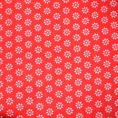 Red and White Beautiful Screen Print Indian Soft Cotton Fabric