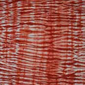 Red and White Cotton Shibori Fabric