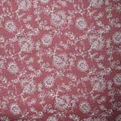 Red and White Floral Pattern Cotton Fabric by the Yard