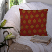 Red and Yellow Cotton Cushion Cover-35008