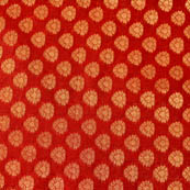 Red and golden small flower brocade silk fabric-4648