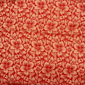 Red golden flower silk brocade fabric-4991
