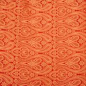 Red paisley print royal golden brocade silk fabric-4966