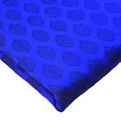 Royal Blue and Black Floral Design Brocade Silk Fabric-8236