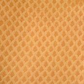 Royal golden flower shape brocade silk fabric-4661