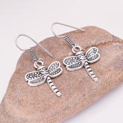 Silver ButterFly pattern Drop Earring for Women