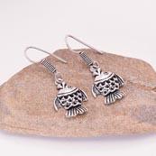 Silver Fish pattern Drop Earring for Women