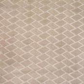 Silver square shape brocade silk fabric-4673
