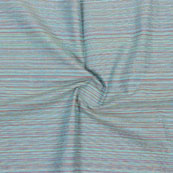 Sky Blue Multicolor Stripes Handloom Khadi Cotton Fabric-40659
