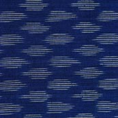 Sky Blue and White Ikat Cotton Fabric-4241