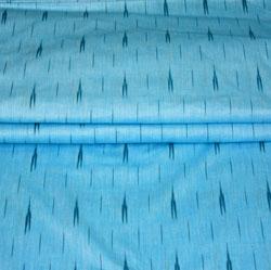 SkyBlue Black Ikat Cotton Fabric-11164