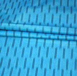 SkyBlue Black Ikat Cotton Fabric-11177