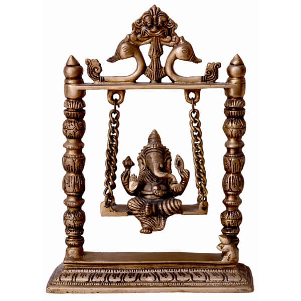 Swinging Metal Ganesha