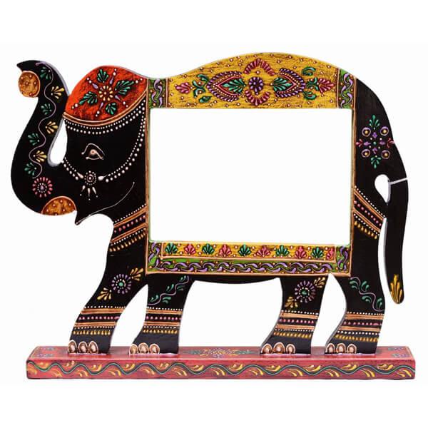 Teak Wood Ganesha Photo Frame