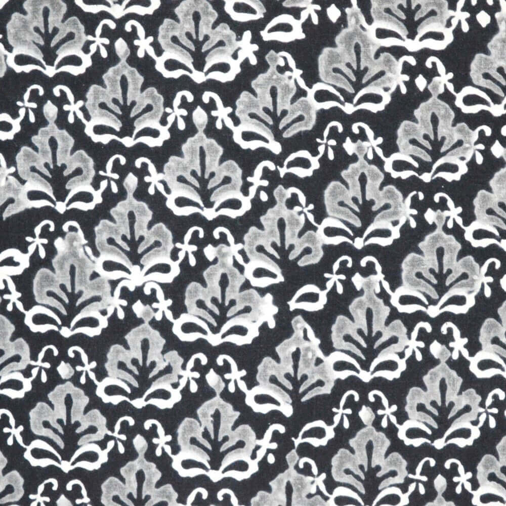 Unique Sanganeri Block Print Indian Cotton fabric by the Yard