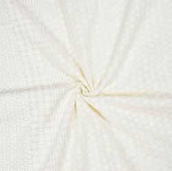 White Flower Lucknowi Chikan Fabric-95043