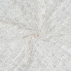 White Embroidery Silk Sequin Fabric-18699