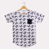 White Black Cotton Harry Potter T-shirt-33366