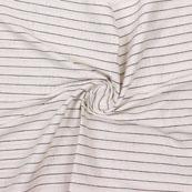 White Black Striped Handloom Khadi Cotton Fabric-40764