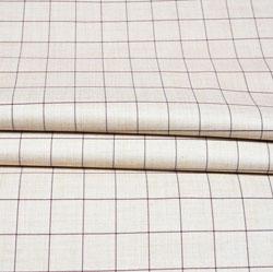 White Black Checks Wool Fabric-90214