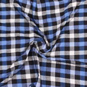 White Black and Blue Check Handloom Cotton Fabric-40462