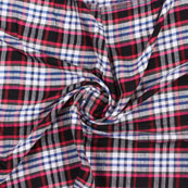 White Black and Pink Check Handloom Cotton Fabric-40455