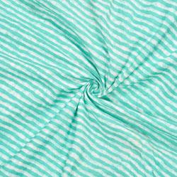 White Cyan Leheriya Cotton Fabric-28078