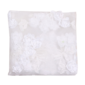 White Flower Net Embroidery Fabric-60861