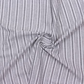 White Gray Striped Handloom Khadi Cotton Fabric-40768