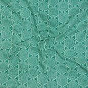 White Green Block Print Cotton Fabric-14587