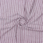 White Maroon Striped Handloom Khadi Cotton Fabric-40766